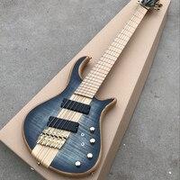 6 Strings Electric Bass Guitar Maple Body One Piece Set Neck Bass Active Pickups Guitar Bass