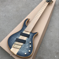 6 Strings Electric Bass Guitar Maple Body one piece set neck Bass active pickups Guitar Bass Music instruments