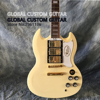 Hot!! High quality sg guitar,creamy yellow guitar sg400,All Color are available,Real photos!