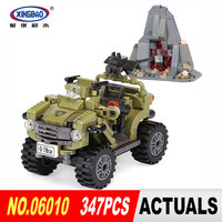 XingBao 06010 Genuine 347Pcs The Oprah Sand Car Set Military Series Building Blocks Bricks Toys DIY