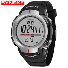 SYNOKE Watches Men 30M Waterproof LED Digital Watch
