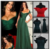 Dark Green Real sample Celebrity Red Carpet Evening Gown custom Long Women Sexy Evening Dress With Sleeves For Special Occasion