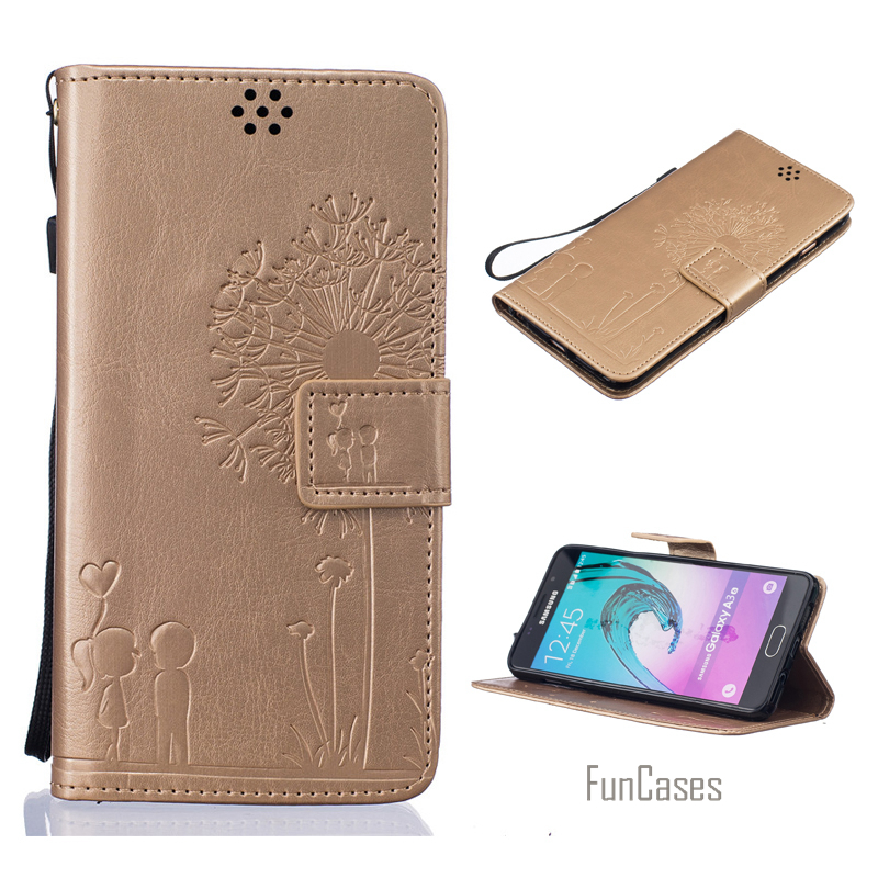 Embossed Flip Case for fundas Samsung Galaxy J1 2016 Cover Case for coque Samsung J1 2016 Case 4.5