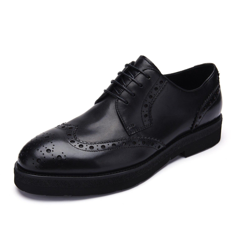 7faa483e9083 Jackmiller Top Marke männer Kleid Schuhe Echtes Leder Farbe Schwarz Sanfte  Mann Oxfords männer Schuhe Lace