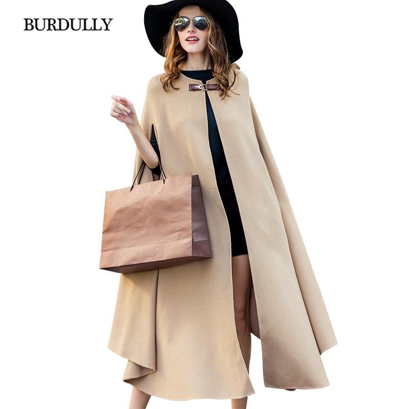De Vêtements Cappotti D'hiver Eleganti Luxe Burdully Donna Cardigan Designer Femmes Laine Pardessus Khaki Chaud Manteau 2019 Lâche Sortie P6xnqFw5O