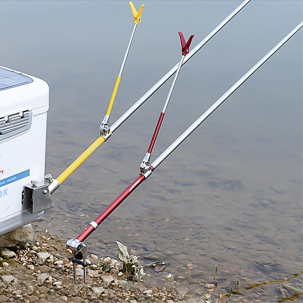 Рыболовное оборудование телескопические удочки держатель складной из нержавеющей стали ручной удочки держатель использовать с рыболовной коробкой кран стул новый|Удочки|   | АлиЭкспресс