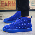 Men Shoes Fashion Luxury Rivets High Top Casual Shoes Men Breathable Flat Casual Shoes Men Brand Shoes Chaussures Homme 2016