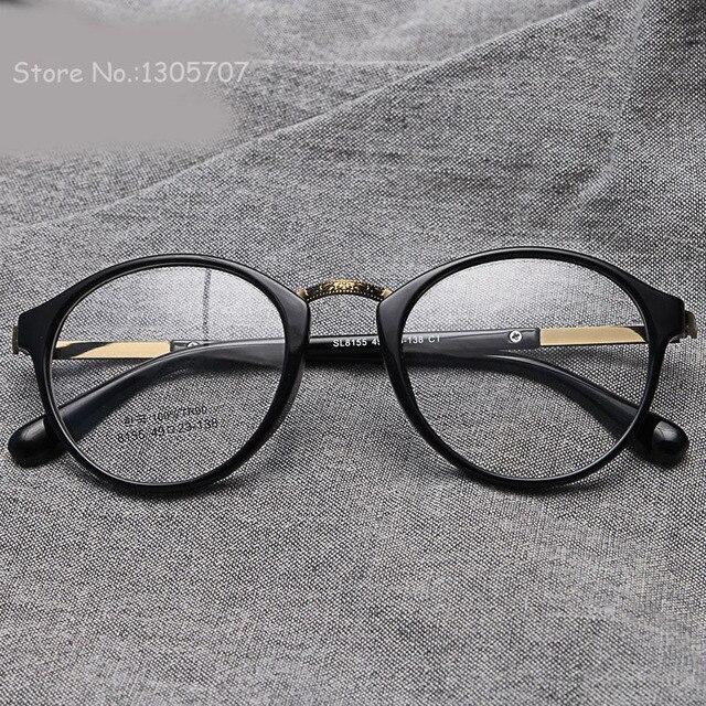 840111c795 2016 nueva ronda marco De los vidrios TR90 mujeres ópticos miopía vendimia  diseño ojo Gafas De