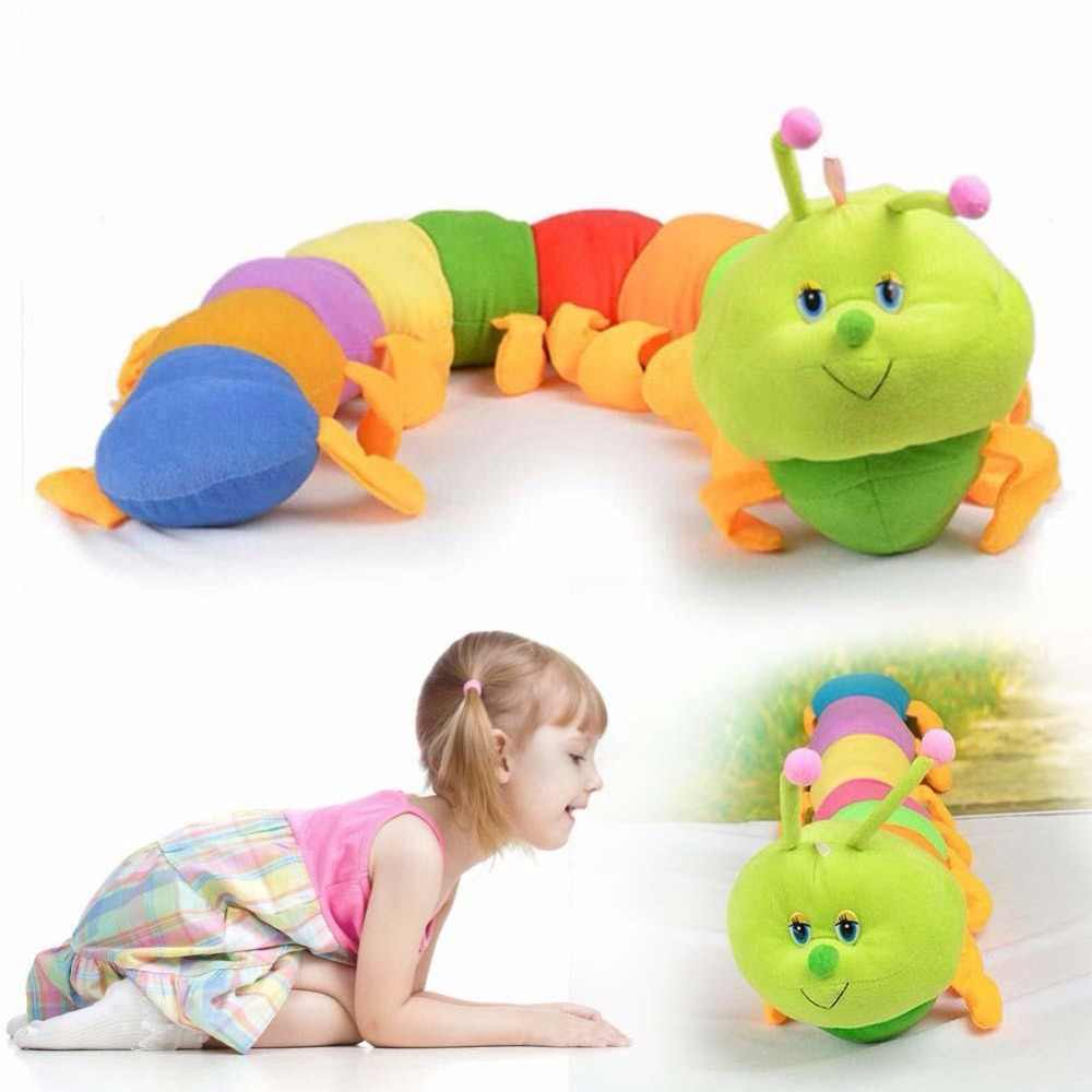 1PC 50cm Cartoon piękny styl pluszowe zabawki Caterpillar nadziewane laleczka bobas śliczny charakter filmowy urodziny dzieci Kawaii prezent J74