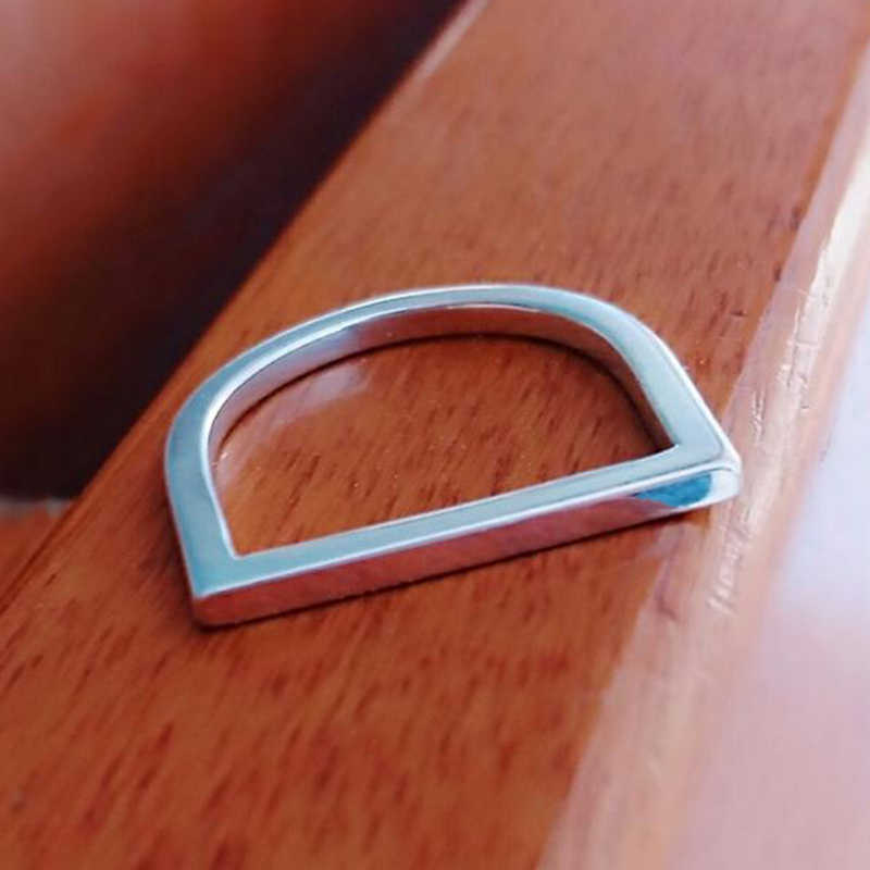 Cc aço inoxidável accessorie hin kpop anel para mulher minimalista d afirmação dainty midi baguette anéis jóias da forma