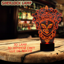 Unique Chinese Style 3D Peking Opera LED Lamp Innovative Gadget Decor 7 Colors Changing Night Light
