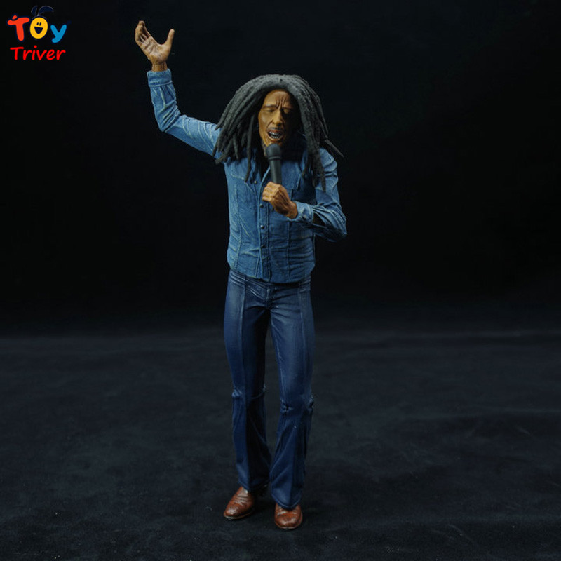 17cm NECA Jamaica Singer Bob Marley Reggae PVC Action Figure Collectible Model Toy Doll Birthday Christmas Music Gift Triver Toy neca god of war 3 kratos 18 inches kratos ghost of sparta pvc action figure collectible model doll toy with box