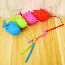 Lovely Fish Shape Silicone Tea Infuser Resuable Leaf Strainer Durable  Ball Herbal Spice Filter BPA Free Drop Shipping