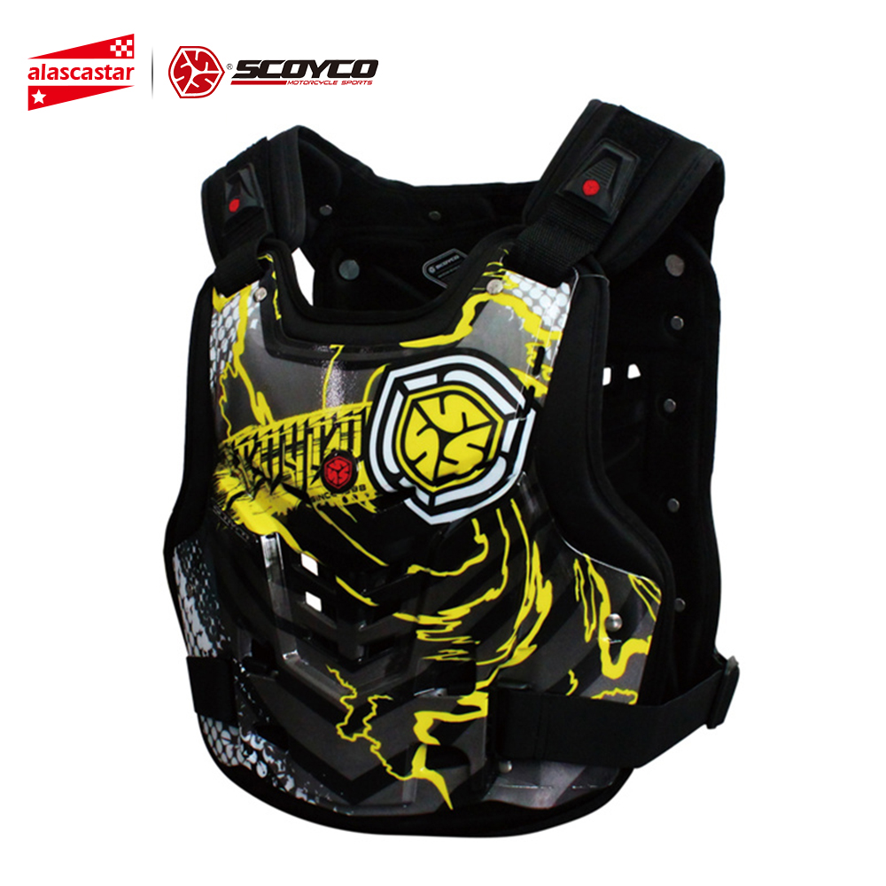 SCOYCO Professional Motocross Off-Road Racing Chest Back Body Protective Gear Guard Motorcycle Riding Armor Protector Vest herobiker armor removable neck protection guards riding skating motorcycle racing protective gear full body armor protectors