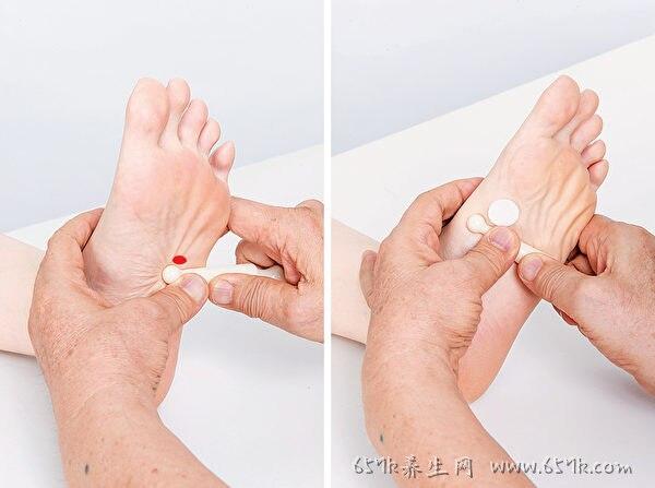 按按脚底 改善肝功能 教你7招保肝脚部按摩法