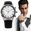 Men Business Quartz Watch 2016 Stylish Men's Pu Leather Military Watches Sport Mens Casual Analog Wrist Watch Relogio Masculino