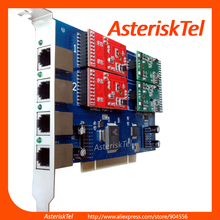 TDM410 карта asterisk с 4 модулями FXS/FXO, TDM400P, FXO карта VoIP, digium Звездочка для VoIP PBX IP телефония freeswitch, Issabel