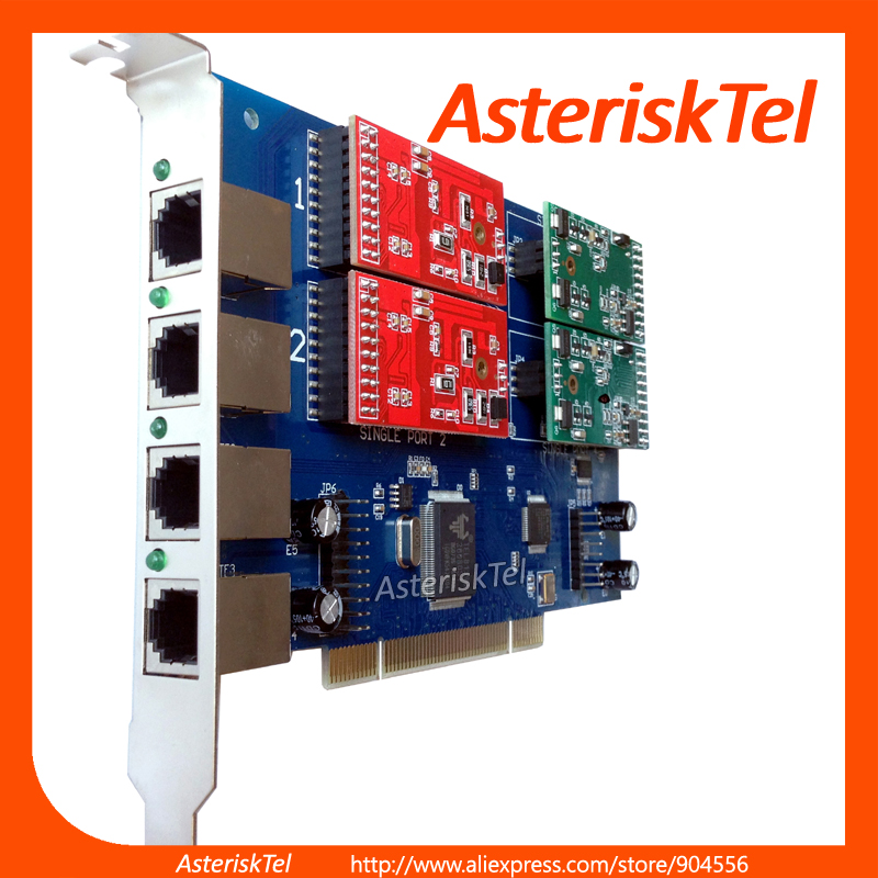 TDM410E Analog Card with 1 FXO+3 FXS,FXS Card FXO Card For asterisk Card tdm400p