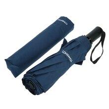 Paraguas con apertura y cierre automáticos a prueba de viento paraguas doble dosel paraguas plegable automático de Golf de viaje con 10 varillas