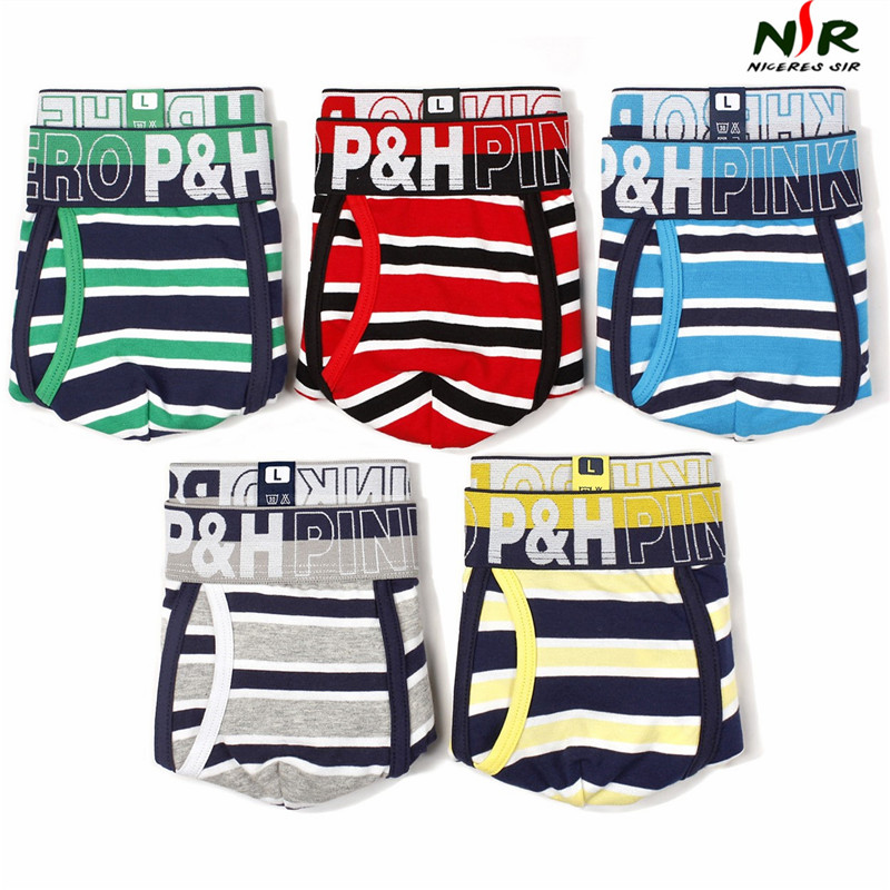 Pink Hero Men Underwear Boxers Ocean Wind Cotton Sexy Men Boxer Underwear Striped Wave Print Mens Shorts Boxer Panties Cuecas Latest Technology Boxers