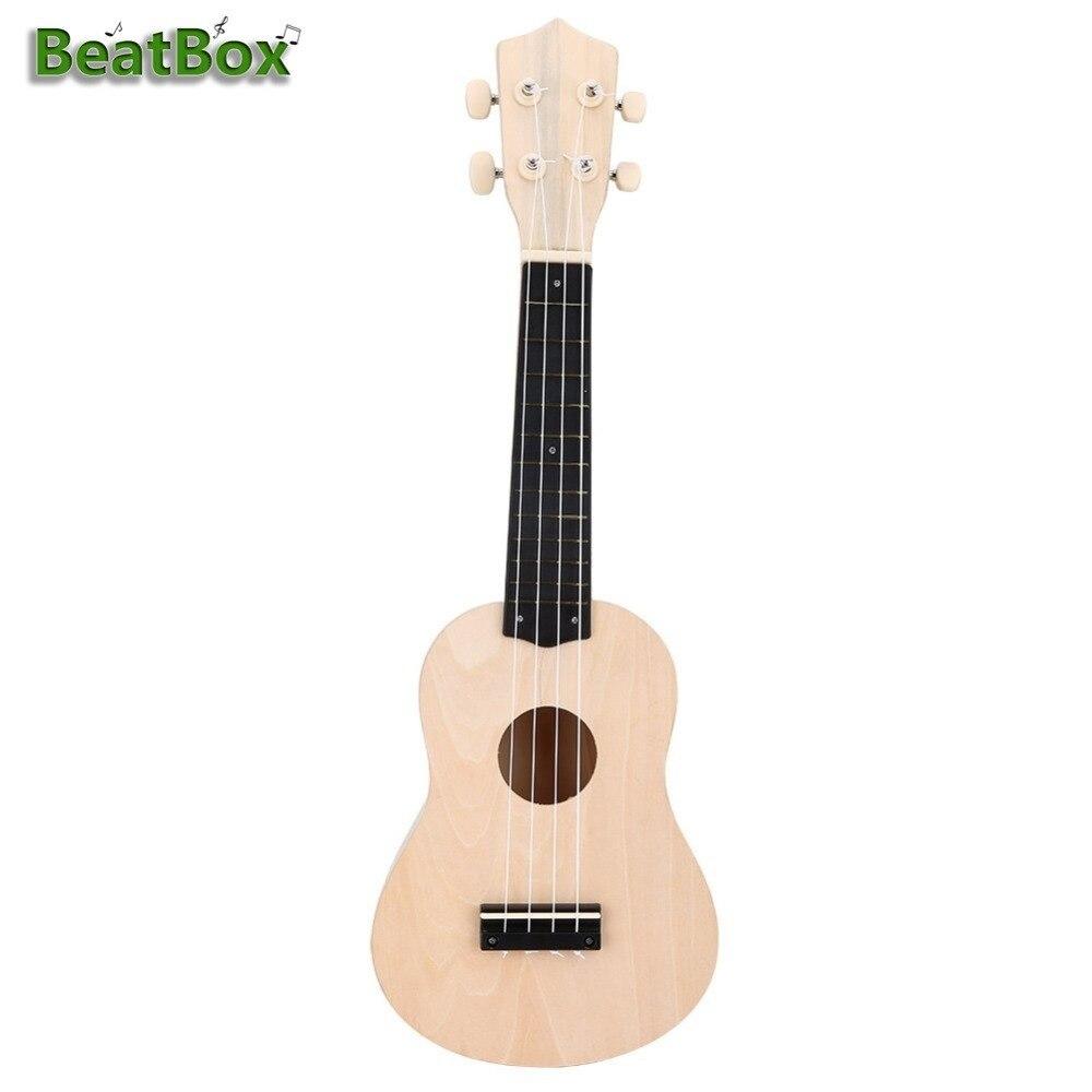 BeatBox Handmade Ukulele DIY Kit 4 String Hawaii Guitar For Kids And Beginner Handwork Support Painting Musical Instrument