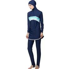 Zon Moslim Badpak Moslim Badpak Islamitische Volledige Cover Bescheiden Badmode Beachwear Burkinis voor Moslim Vrouwen S-4XL