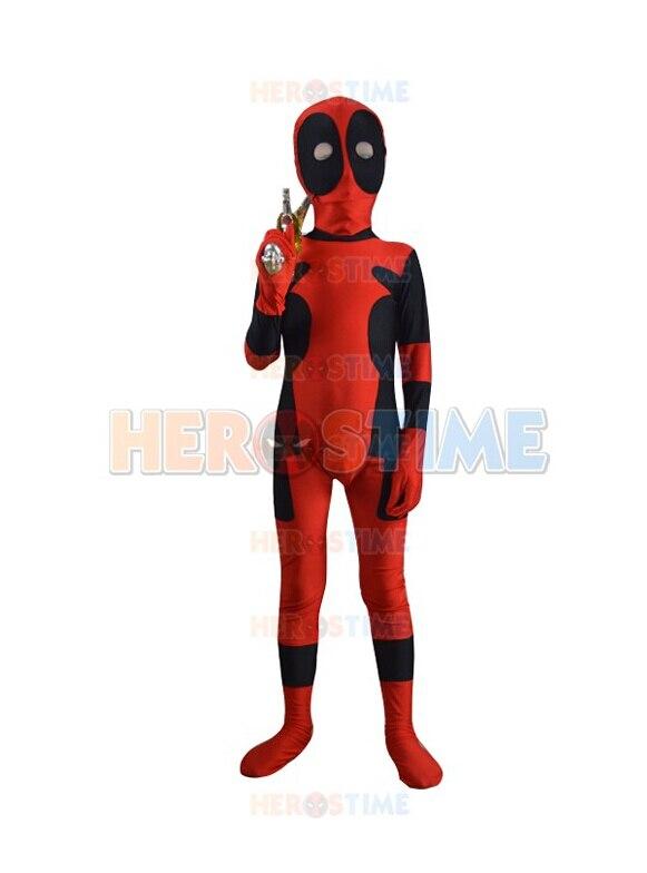 (dp8304) Kids Classic Deadpool Spandex Superhero Costume