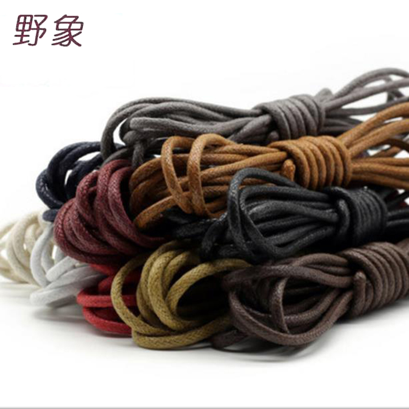 12 pairs fashion casual shoelaces high quality Waxed Round shoe laces Shoestring Martin Boots Sport Shoes Cord Ropes 2017 high quaitily casual fashion 024