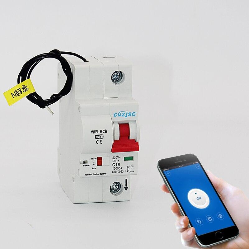 1 P WiFi умный выключатель автоматический переключатель перегрузки короткого замыкания с Amazon Alexa Google home для умного дома