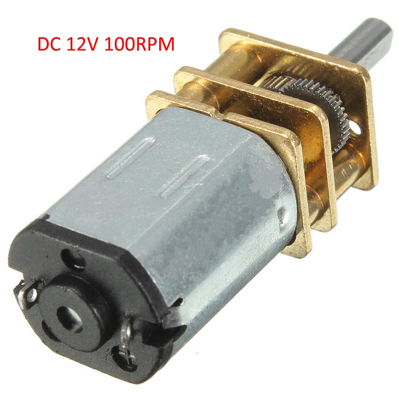 DC 12V 100RPM Gear Motor N20 Mini Electric Gear Box with Gearwheel 3mm Shaft Diameter n20 dc12v 100rpm gear motor high torque electric gear box motor