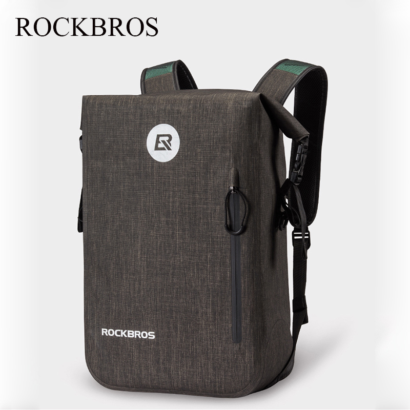 ROCKBROS 24L большой емкости Водонепроницаемый велосипед Велоспорт рюкзак для мужчин и женщин школьная сумка наружная бейсболка для езды и похо...