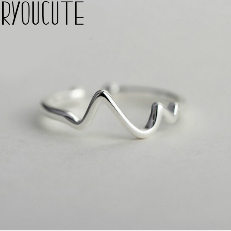 New Trendy Style 925 Sterling Silver Geometric Ring For Women Adjustable Size Engagement Rings Girls Gifts Party Jewelry Anillos