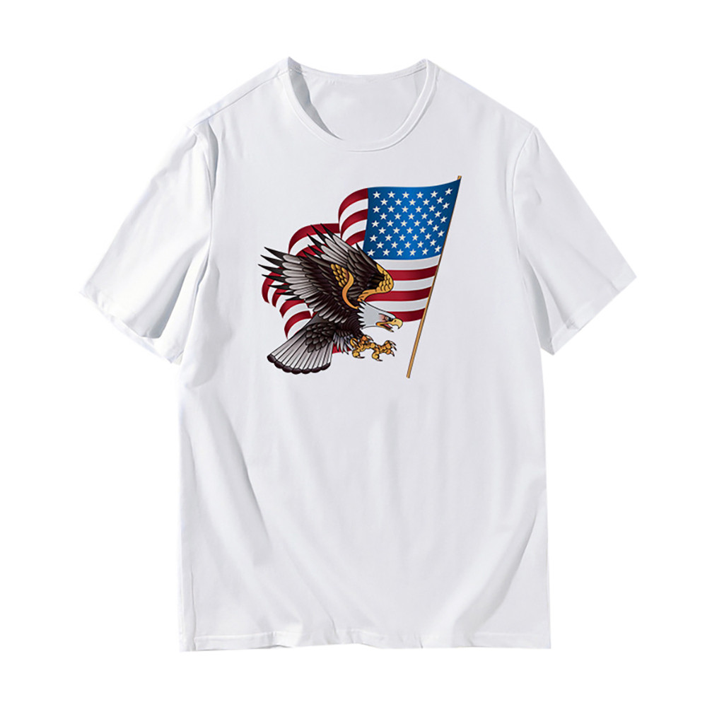 Men/'s US Flag Athletic T-Shirt Muscle Build Tactical Tee American Patriotic Tops