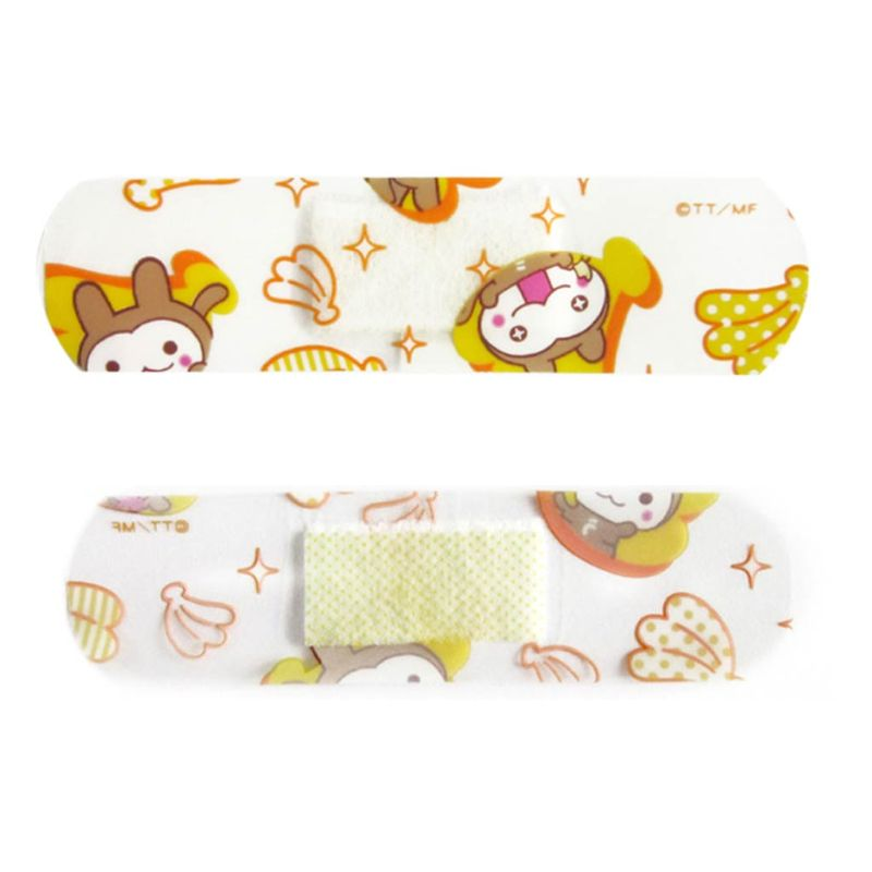 Devoted 50pcs Cartoon Animal Banana Print Disposable Waterproof Wound Plaster First Aid Adhesive Bandages Band Heel Cushion Stickers More Discounts Surprises