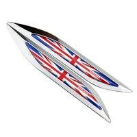 Car Fender UK Flag Trunk Decoration Sticker Aluminum Emblem For Audi A3 Mitsubishi Asx Toyota Chr