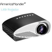 3D LCD Mini Proyector Educación Multimedia Proyector LED Home Cinema Soporte de Vídeo AV TV VGA HDMI USB Tarjeta de TF