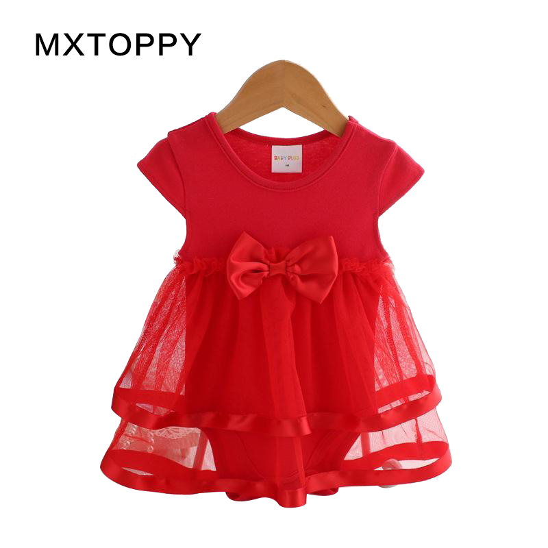 2018 NewBorn Baby Summer Dress Cotton Bow Baby Rompers For girls Summer Infant Kids Clothes Baby Girls Jumpsuit Girls Dress