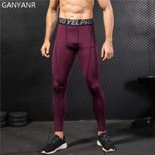 цена на GANYANR Running Tights Men Leggings Yoga Basketball Fitness Compression Pants Athletic Sports Skins Bodybuilding Jogging Dry Fit