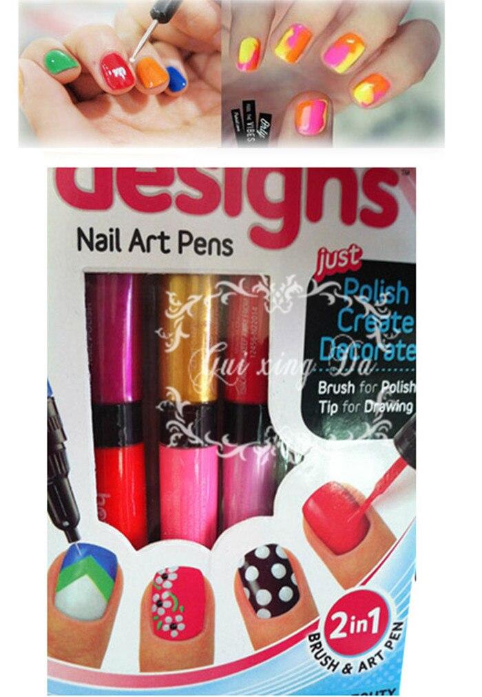 100pcslot Hot Designs Nail Art Pens Basic Kit Nails Art Tools6