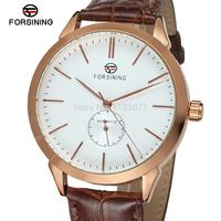 FSG8083M3R1 Latest Automatic Men S Luxury Business Watch With Brown Leather Strap For Free Shipping With
