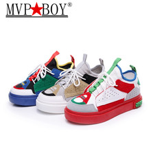 MVP BOY 2018 Women Sneaker Shoes Woman Outdoor Breathable Comfortable Female Mix Color Lightweight Casual Shoe Size 35-40