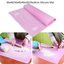 Silikone Bage Mat Dikke Flour Rolling Scale Mat Knead Dej Pad Bagning Pastry Rolling Mat Bakeware Liners