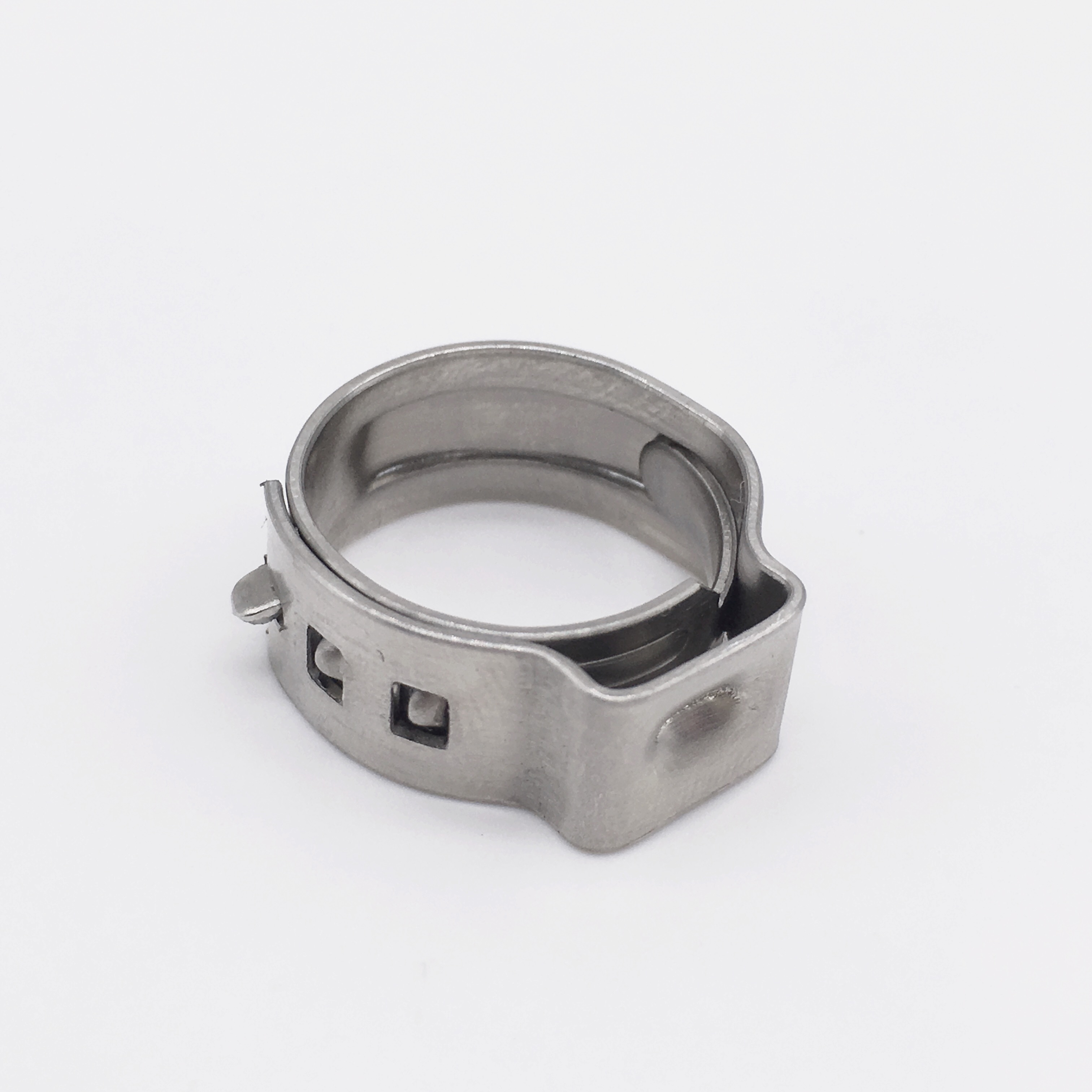 Pinch Clamps Stepless Single Ear Tight-Seal Vibration-Resistant for Firm Hose and Tube 304 Stainless SteelPinch Clamps Stepless Single Ear Tight-Seal Vibration-Resistant for Firm Hose and Tube 304 Stainless Steel