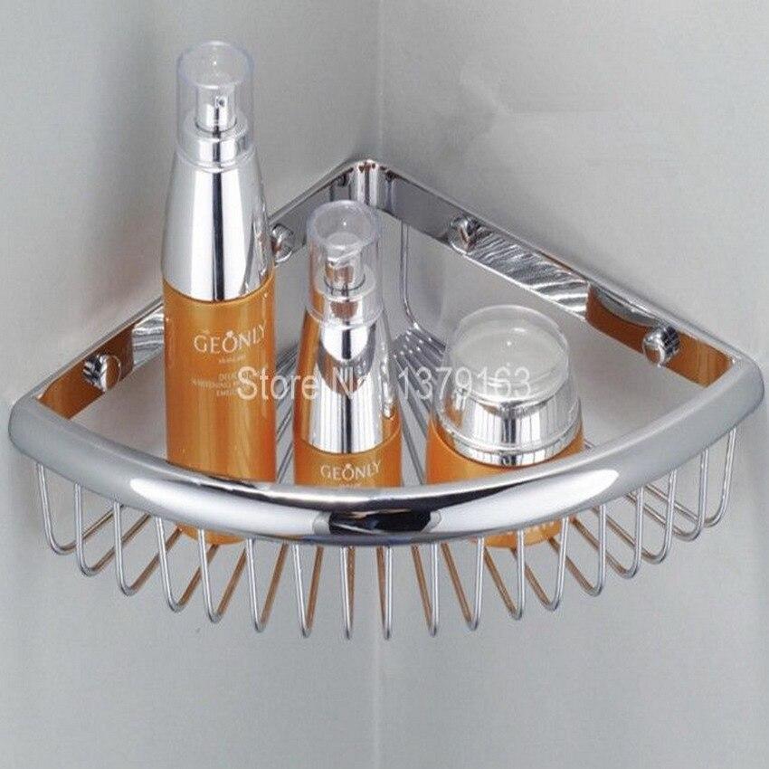 New Polished Chrome Wall Mounted Bathroom Accessory Single Tier Soap ...