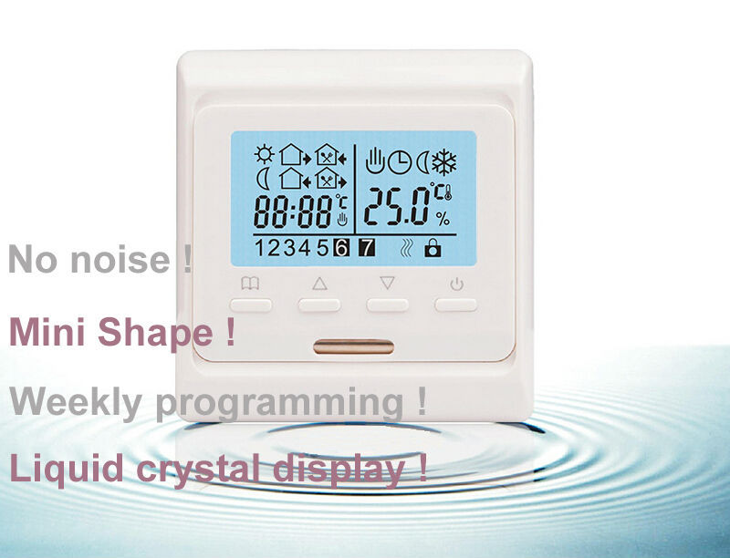 220V LCD Programmable Electric Digital Floor Heating Room Air Thermostat Warm Floor Controller( 1PC)