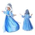 2017 frozen set 3 sets de desgaste de los niños de manga larga conjunto dress dress girls nieve para niños