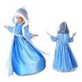 2017 frozen set 3 sets of children's wear long sleeved dress girls snow set dress for kids