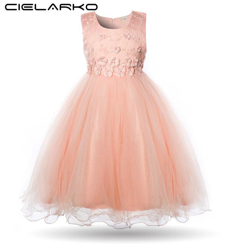 27963c35b Cielarko flor niñas vestido desfile verano niños vestido de fiesta princesa  noche vestido 2018 ...