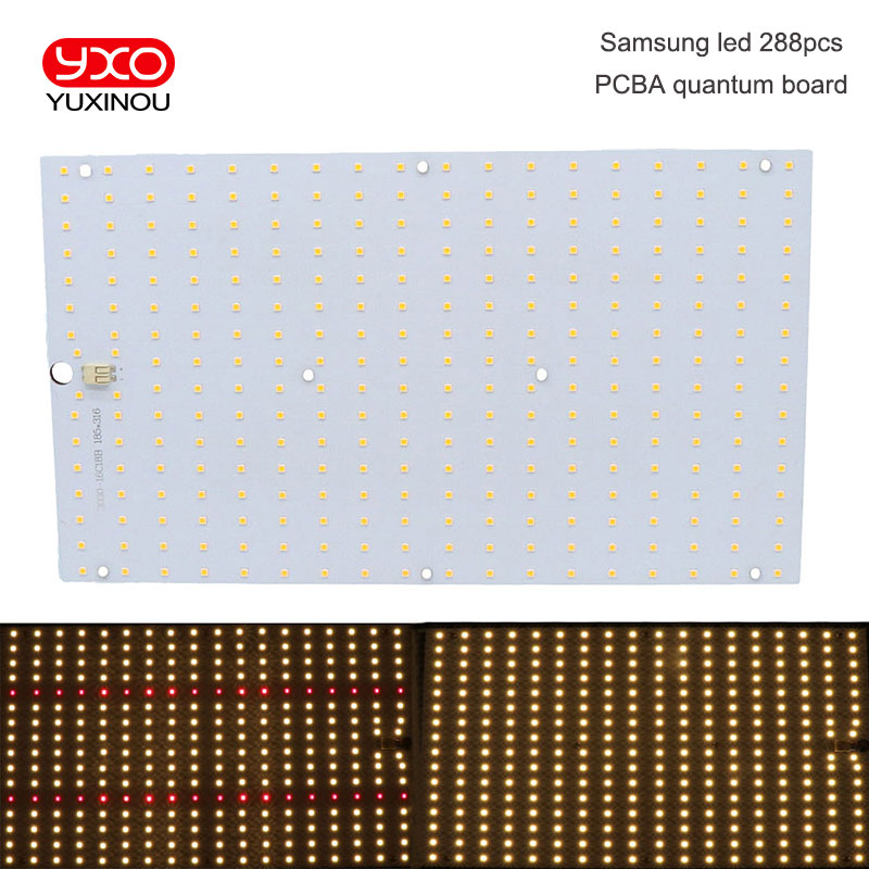 Samsung Led 288pcs PCBA Board, QB288 V2 PCB With LM301B+660nm/V1 LM561C S6 3000K Diy Led Plant Grow Light
