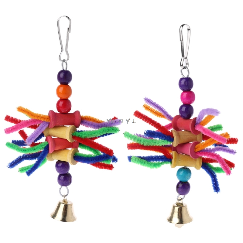 Parrot Chew Toys Multicolor Bird Parrot Bite String Toys Swing Cage Accessories